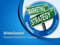 Marketing Strategy And Solutions Business PowerPoint Themes And PowerPoint Slides 0811