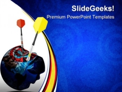 Marketing Targets Business PowerPoint Templates And PowerPoint Backgrounds 0711