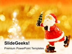 Marry Christmas Theme Santa Clause PowerPoint Templates Ppt Backgrounds For Slides 0413