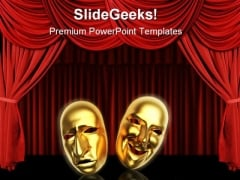 Masks Entertainment PowerPoint Themes And PowerPoint Slides 0811