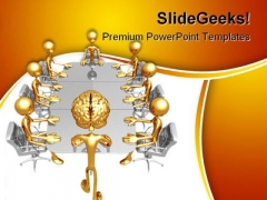 Mastermind Meeting Business PowerPoint Themes And PowerPoint Slides 0211