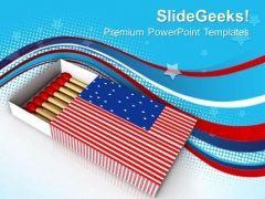 Match Box American Flag Theme PowerPoint Templates Ppt Backgrounds For Slides 0713