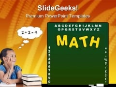 Mathematics Concept Education PowerPoint Backgrounds And Templates 1210