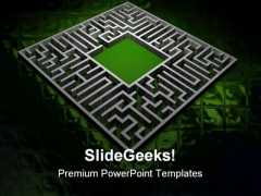 Maze Business PowerPoint Backgrounds And Templates 0111