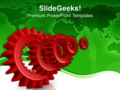 Mechanical Gears Business Concept PowerPoint Templates Ppt Backgrounds For Slides 0713