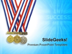Medal Success PowerPoint Templates And PowerPoint Backgrounds 0711