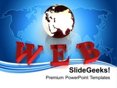Media Of Communication Web PowerPoint Templates Ppt Backgrounds For Slides 0313