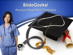 Medical Education People PowerPoint Backgrounds And Templates 0111