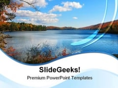Meech Lake Nature PowerPoint Templates And PowerPoint Backgrounds 0711