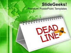 Meet The Monthly Deadlines Of Targets PowerPoint Templates Ppt Backgrounds For Slides 0613