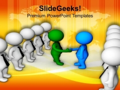Meet With Peoples To Promote Ideas PowerPoint Templates Ppt Backgrounds For Slides 0713