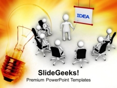 Meeting For A New Idea PowerPoint Templates Ppt Backgrounds For Slides 0713