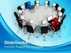 Meeting For Discussing Business Task Teamwork PowerPoint Templates Ppt Backgrounds For Slides 0513