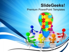 Meeting On Business Strategies Innovation PowerPoint Templates Ppt Backgrounds For Slides 0213