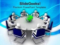 Meeting On Global Economic Crisis PowerPoint Templates Ppt Backgrounds For Slides 0713
