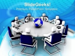 Meeting On Global Issues PowerPoint Templates Ppt Backgrounds For Slides 0713