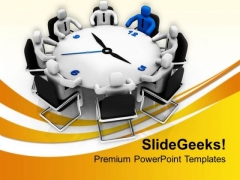 Meeting On Time Mangement Tips PowerPoint Templates Ppt Backgrounds For Slides 0813