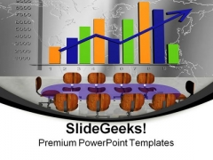Meeting Statistic Graph Business PowerPoint Themes And PowerPoint Slides 0711