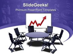 Meeting Table With Graph Business PowerPoint Themes And PowerPoint Slides 0511