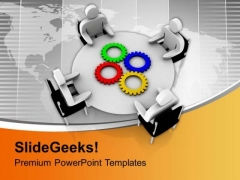 Meeting With Different Solution For A Problem PowerPoint Templates Ppt Backgrounds For Slides 0413