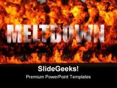 Meltdown Global PowerPoint Template 0810