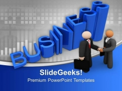 Men Dealing On Blue Background Business PowerPoint Templates Ppt Backgrounds For Slides 0213