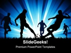 Men Playing Soccer Game PowerPoint Themes And PowerPoint Slides 0511