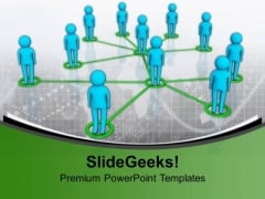 Men Social Network Connection PowerPoint Templates And PowerPoint Themes 1112