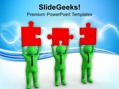 Men Standing Together To Form One Team PowerPoint Templates Ppt Backgrounds For Slides 0713