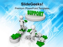 Men Trying To Get Support PowerPoint Templates Ppt Backgrounds For Slides 0713