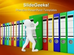 Men With Archive From Folders Communication PowerPoint Templates And PowerPoint Backgrounds 0211