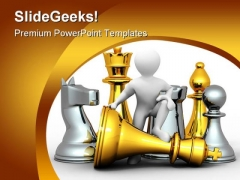 Men With Chess Game PowerPoint Templates And PowerPoint Backgrounds 0311