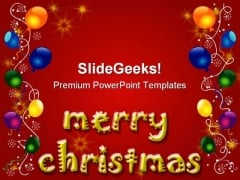 Merry Christmas Background PowerPoint Themes And PowerPoint Slides 0511