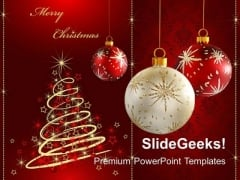 Merry Christmas Celebration Festival PowerPoint Templates And PowerPoint Themes 1112
