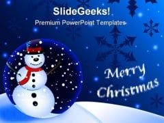 Merry Christmas Festival PowerPoint Themes And PowerPoint Slides 0911