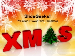 Merry Christmas With Decorative Tree Holiday PowerPoint Templates Ppt Background For Slides 1112