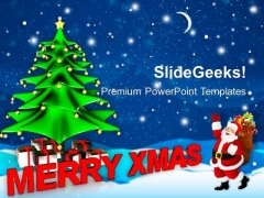 Merry Christmas With Santa Claus Holidays PowerPoint Templates Ppt Backgrounds For Slides 1112