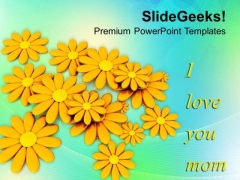 Message To Mom Happy Mothers Day PowerPoint Templates Ppt Backgrounds For Slides 0513