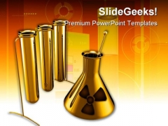 Metallic Test Tubes Science PowerPoint Backgrounds And Templates 1210