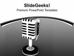 Microphones For Communication PowerPoint Templates Ppt Backgrounds For Slides 0413