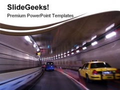 Midtown Tunnel Travel PowerPoint Templates And PowerPoint Backgrounds 0611