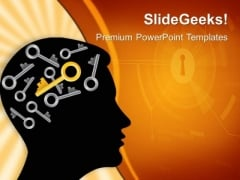 Mind Key Security PowerPoint Templates And PowerPoint Themes 0512