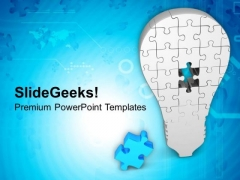 Missing Puzzle To Complete The Solution PowerPoint Templates Ppt Backgrounds For Slides 0413