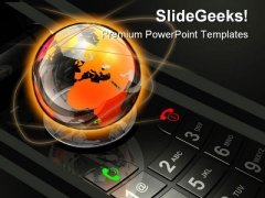 Mobile Globe PowerPoint Template 0810
