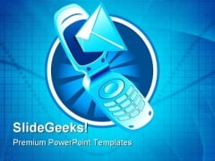 Mobile Phone Technology PowerPoint Themes And PowerPoint Slides 0811