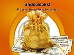 Money Bag Future PowerPoint Template 0810