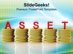 Money Is A Great Asset For Business PowerPoint Templates Ppt Backgrounds For Slides 0513