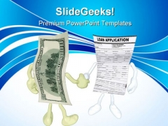 Money Loan Application Handshake PowerPoint Themes And PowerPoint Slides 0711