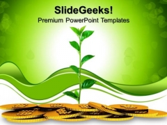 Money Plant Growth Business PowerPoint Templates And PowerPoint Themes 0812