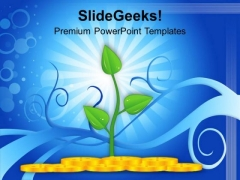 Money Plant Shows Growth Success PowerPoint Templates Ppt Backgrounds For Slides 0113